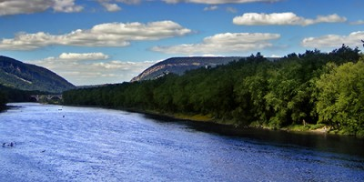 Northeast view of the Delaware Water Gap. Image courtesy Nicholas A. Tonelli